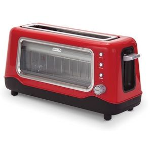 NIB Dash Clear View Toaster Red